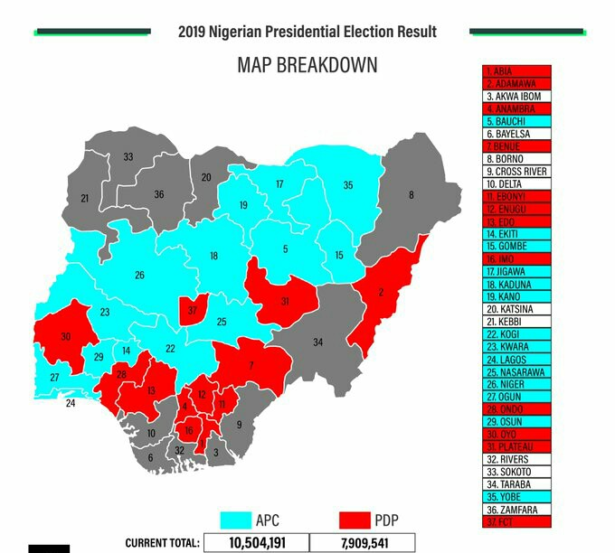After 2019 Presidential kano state election result map breakdown