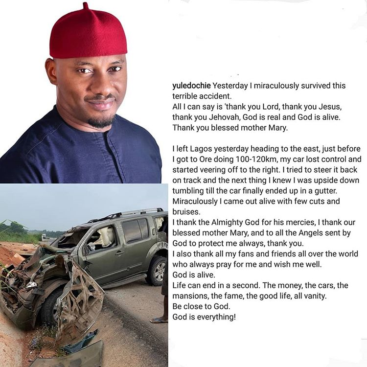 Nigerian Actor, Yule Edochie Survives Auto Crash