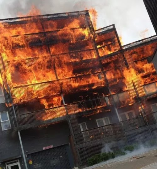 Oh No!!: 10 firefighters Battles As Fire Engulfs New House – East London