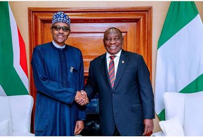 Buhari Finally Meets With South African President, Cyril Ramaphosa