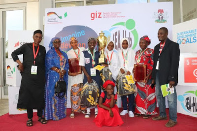 Some of the students with teachers and organisers during the competition e1573202009693
