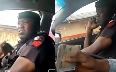 VIDEO: Bribe-Taking Policeman Spotted Lying To His Colleagues About The Amount He Collected From A Motorist