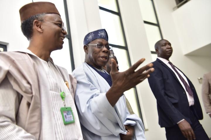Photos: Obasanjo Visits El-Rufai On Surprise In Kaduna