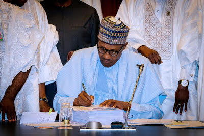 Breaking: President Buhari Signs 2020 Budget Into Law