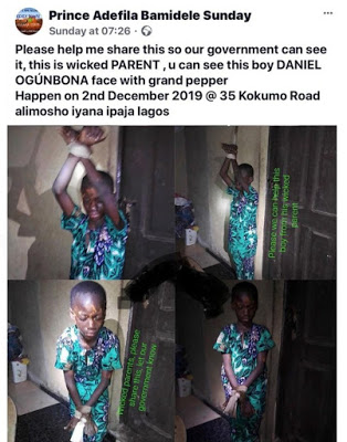 Maltreatment Taken Too Far As Parents Tie Son To The Ceiling, Pour Pepper On His Face