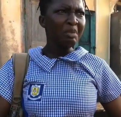 "Funny video: Secondary School Girl Says ""I'm a marlian"" After Being Sent Away From School"