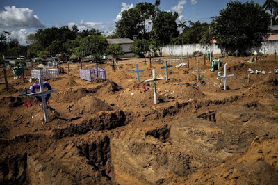 PHOTOS: Brazil Digging Up Bodies From Graves To Make Room For Coronavirus Victims