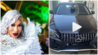 VIDEO: Actress Tonto Display Her N17M Car Gift As She Celebrate 35th Birthday