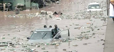 Flood Sweeps Away A Girl In Lagos