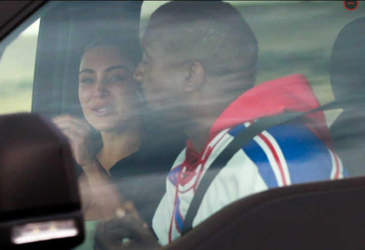 Kim Breaks Down In Tears As She Reunites With Kanye West (Photos)