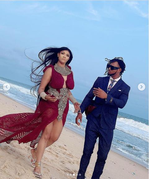 Angela Okorie Marries In  Romantic Beach Wedding (Photos)