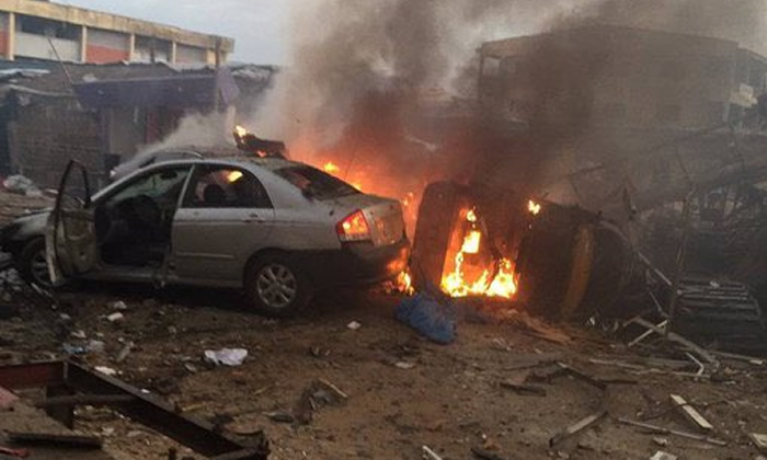 Gas Explosion kill Two In Lagos (Video)