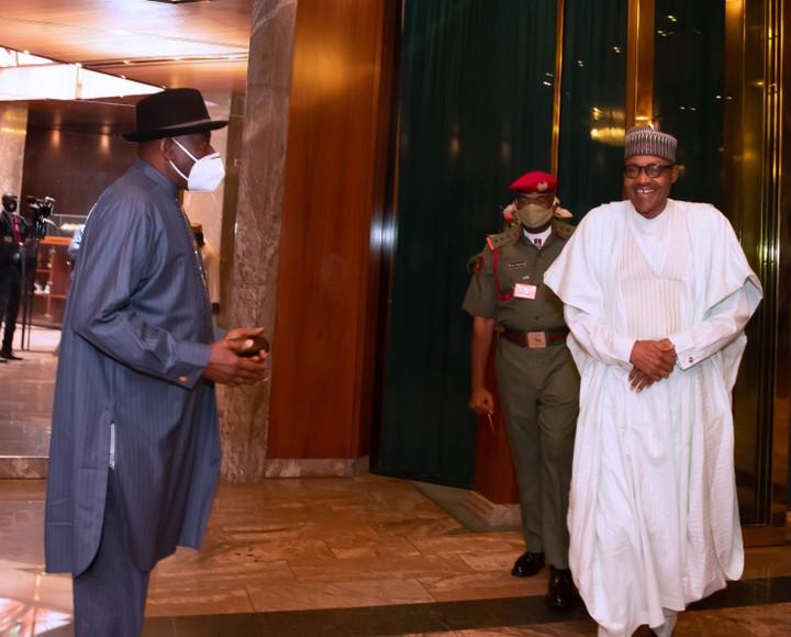 Jonathan Briefs President Buhari On Mali Crisis (Photos)