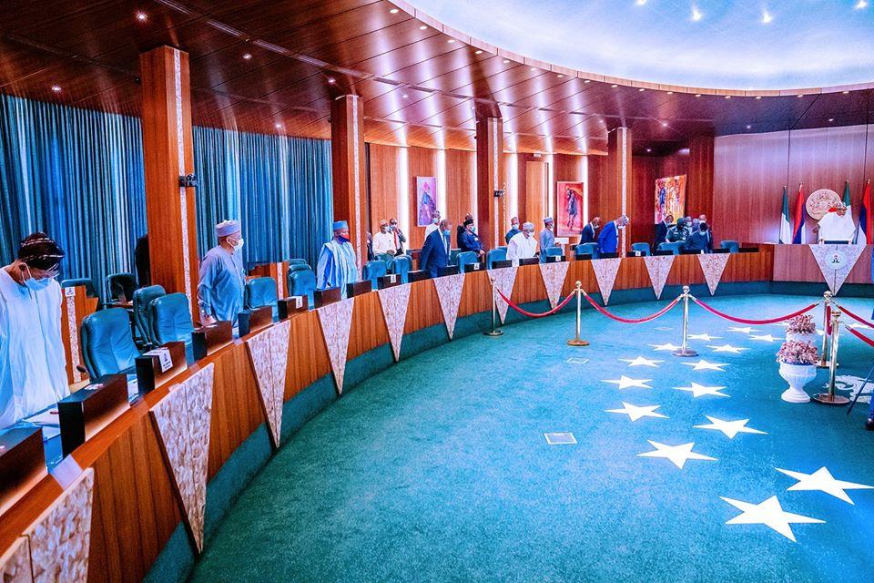 President Buhari Presides Over Security Council Meeting (Photos)