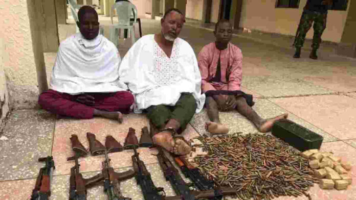 Soldiers Arrests 3 Foreigners Supplying Weapons To Bandits