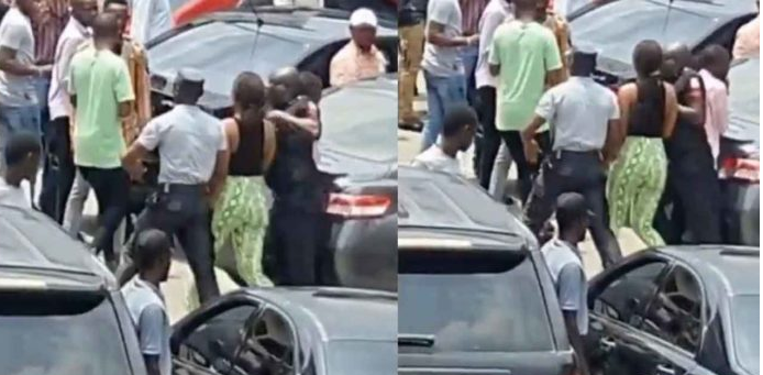 VIDEO: Police Arrests Lady After Stealing An iPhone And Hiding It In Her Private Part