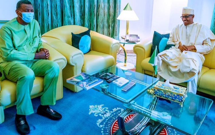 Bishop Adeboye Meets Buhari Behind Closed Door In Abuja
