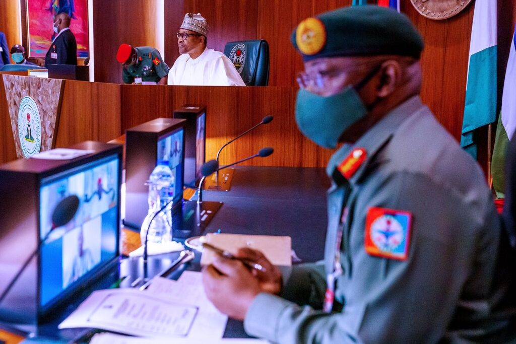 Buhari In Another Crucial Meeting With NGF, Security Council In Aso Rock