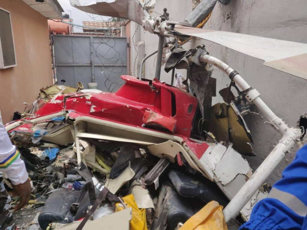 UPDATE: 3 Feared Dead In Lagos Helicopter Clash (Photos)