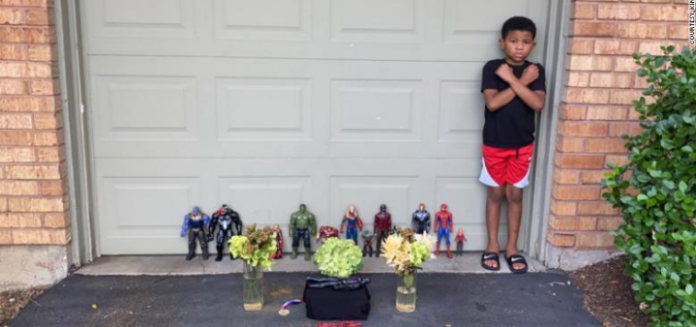 7-year-old Boy Held A Heartbreaking Memorial For Chadwick Boseman