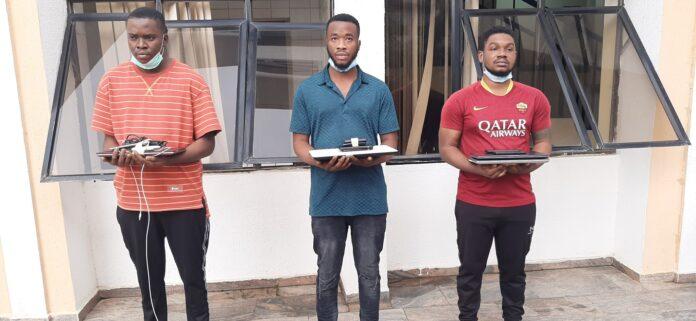 EFCC Arrests Three Suspected Internet Fraudsters In Abuja