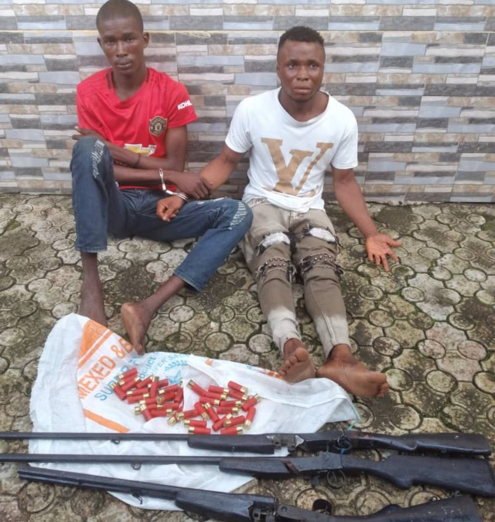 Police Arrests 2 Armed Robbers/kidnappers In Delta