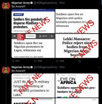 Nigerian Army Denies Killing ENDSARS Protesters