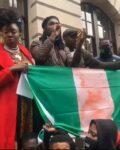 Burna Boy Joins #EndSARS Protest At London(Photos, Video)