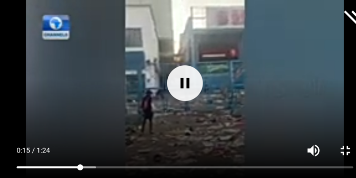 VIDEO NEWS: Watch The Moment Shops, Banks, ATMs Was Destroyed By Hoodlums In Surulere