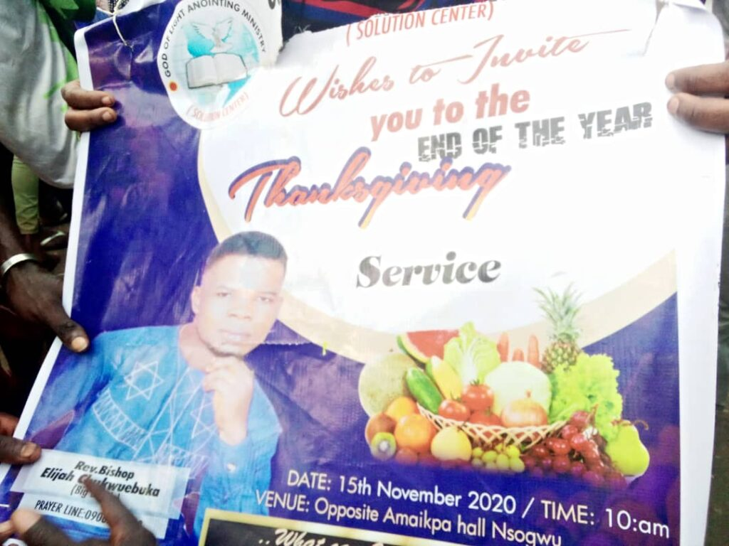 Shocking Video! Pastor Caught With Human Head, Charms In His Church