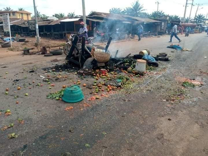 Angry Keke Riders Went On Rampage After Hausa Man Stab Colleague In Enugu (Photos)