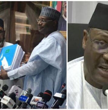Prof. Mahmood Yakubu Hands Over To New Acting INEC Chairman