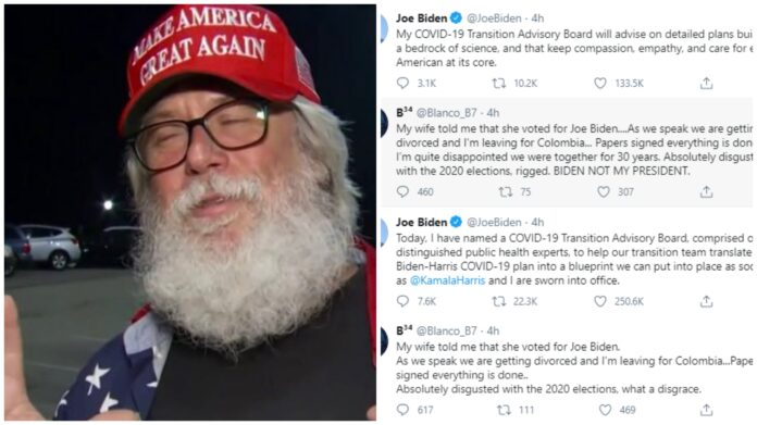 69-year-old Man Divorce Wife Of 30 Years For Voting For Biden