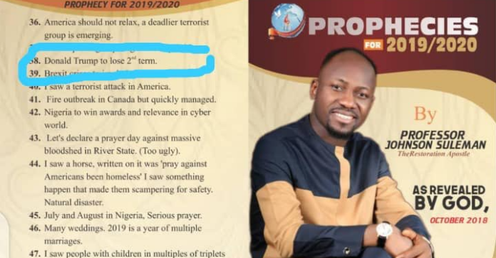 VIDEO: Joe Biden To Be Impeached For Harris To Be President - Apostle Suleman Prophesied