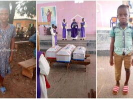 The 3 Children Found Dead At Ex Police Officer's Home Are Laid To Rest In Enugu (Photos)